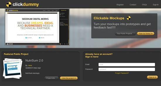 ClickDummy - Create Clickable Mockups Online