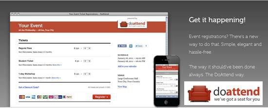 DoAttend – online event registration app for Event Managers