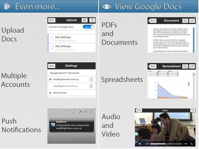 GoDocs - iPhone and iPad apps for Google Docs