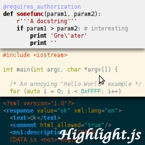 highlight-js 11 useful JavaScript syntax highlighter
