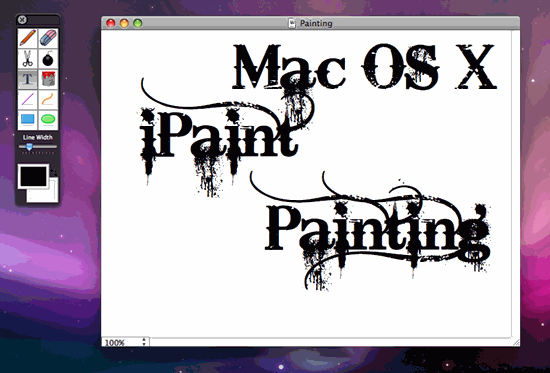 iPaint painting software for Mac