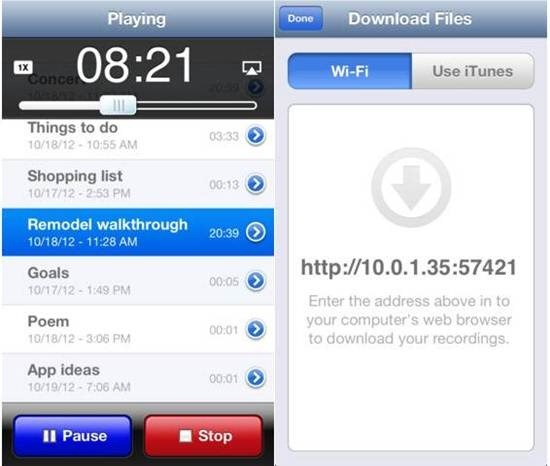 iRecorder Pro iphone dictation apps