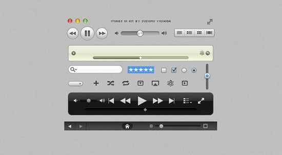 iTunes UI Kit by Susumu Yoshida