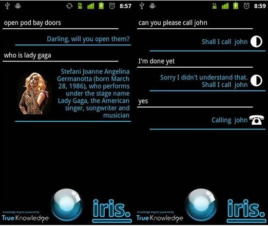 iris Siri Alternative Apps for Android
