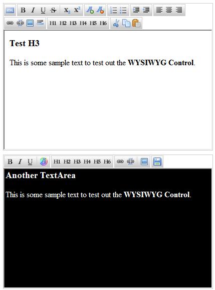jHtmlArea - WYSIWYG HTML Editor for jQuery