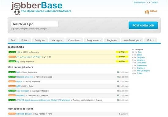 jobberBase - php based job board platform