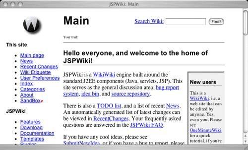 jspwiki 17 open source wiki engine/software