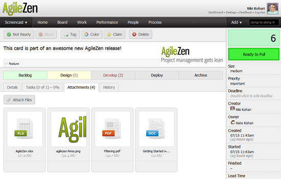 AgileZen - lean project management