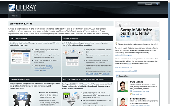 Liferay – Java based web portal application framework – Gadget Explorer