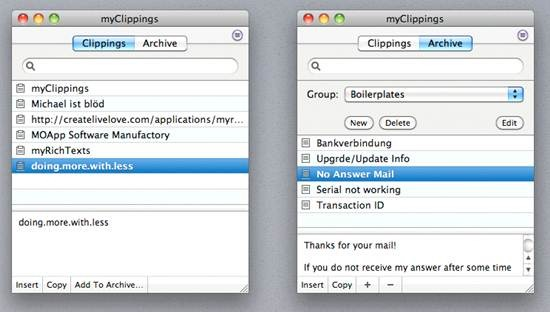 myClippings- Mac clipboard manager