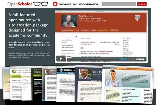 openscholar web site-creation tool