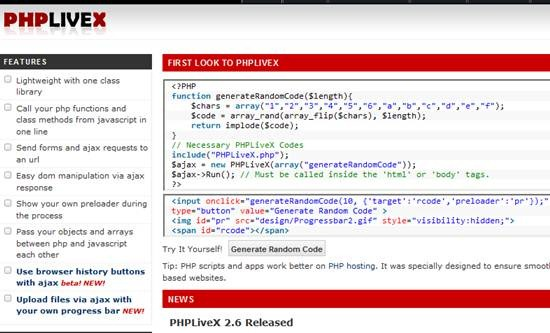 PHP LiveX - Enrich your applications with ultimate php-js interaction
