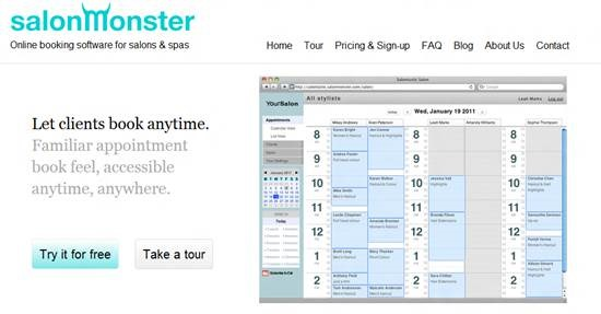 salonMonster Top 16 online appointment scheduling software