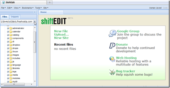 ShiftEdit – browser based IDE for developing PHP, Ruby, HTML