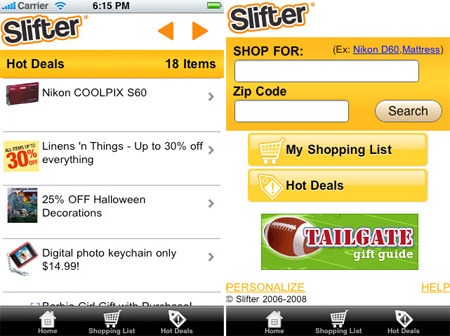 slifter 18 free Mobile Shopping Apps for smartphone