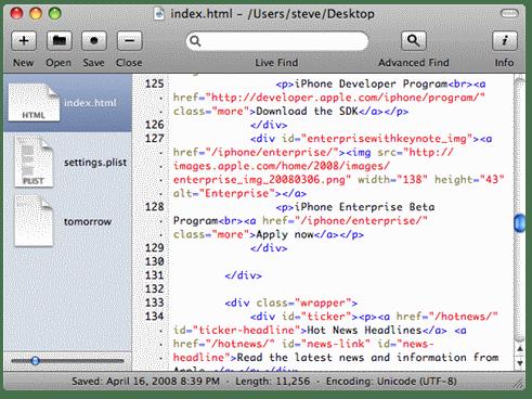 Smultron mac os x text editor
