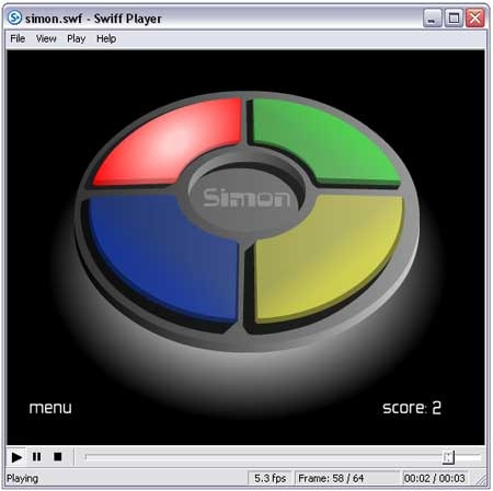 Swiff Player - Free stand-alone flash player