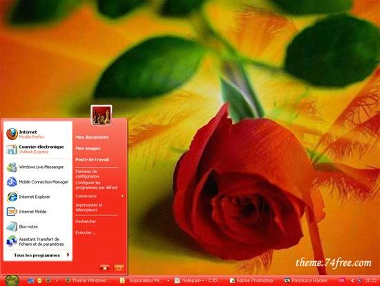 theme_74st_red_for_windows_xp 55 most Beautiful free Window XP Themes and Visual Styles
