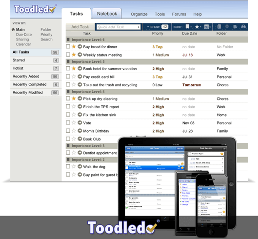 toodledo mobile to-do list : 20 most useful Mobile To-Do List manager for iPhone