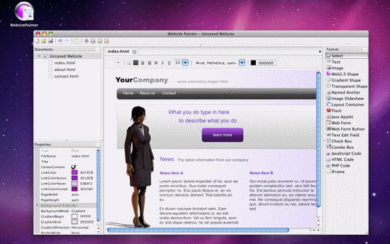 websitepainter html editor