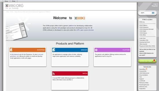 xwiki entreprise wiki