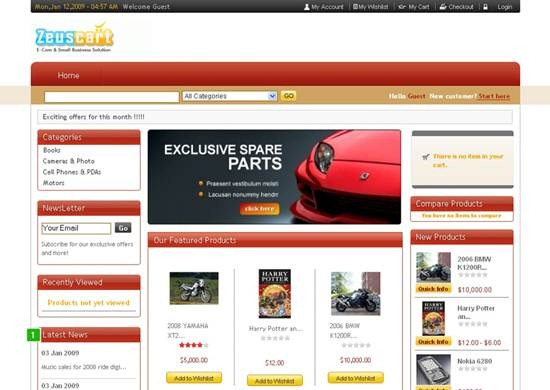 zeuscart - Online PHP Shopping Carts