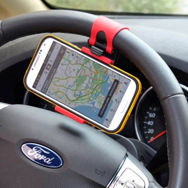 Car Steering Wheel Phone Holder Gadkit