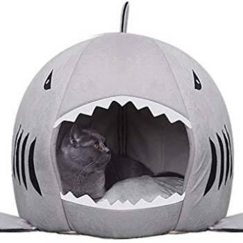 Winter Warm Shark Pet House Gadkit 1 Warm Shark Shaped Pet House