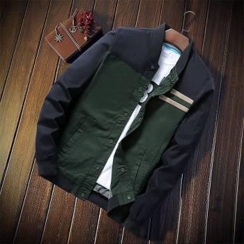 5bbef605606c1316d543f1f9 1 larg New Autumn Fashion Men Casual Slim Fit Zipper Jacket