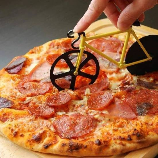 Bicycle Shape Pizza Cutter What's New Cool Gadgets DIY Kitchen Gadgets Geeky Stuff size: M