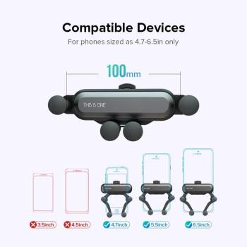 H28eaccb3021445b8a0d1986b1ec2a5911 Gravity Car Holder For Phon GPS Stand For iPhone XS MAX Xiaomi