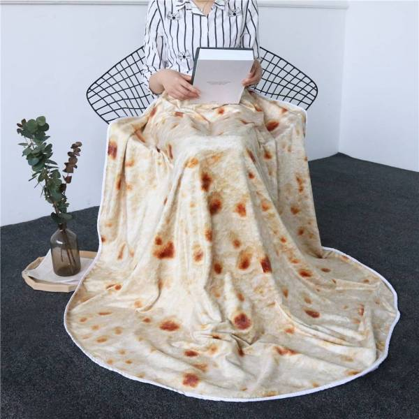 Tortilla Blanket What's New Geeky Stuff Home Decor color: Burritos-1|Burritos-2|Burritos-3
