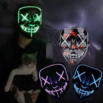 HTB1kWbSaKH2gK0jSZJnq6yT1FXa4 Halloween Party Led Mask  - Super Cool  Halloween Accessories