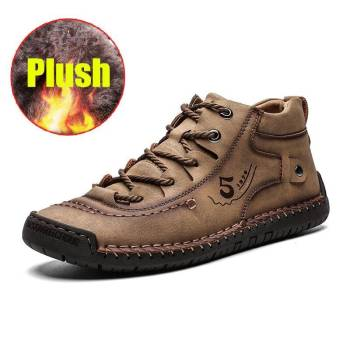 Ha7f6f60396434439be18c87d086ccd95U 100% Leather - Men British Style Comfortable Walking Shoe