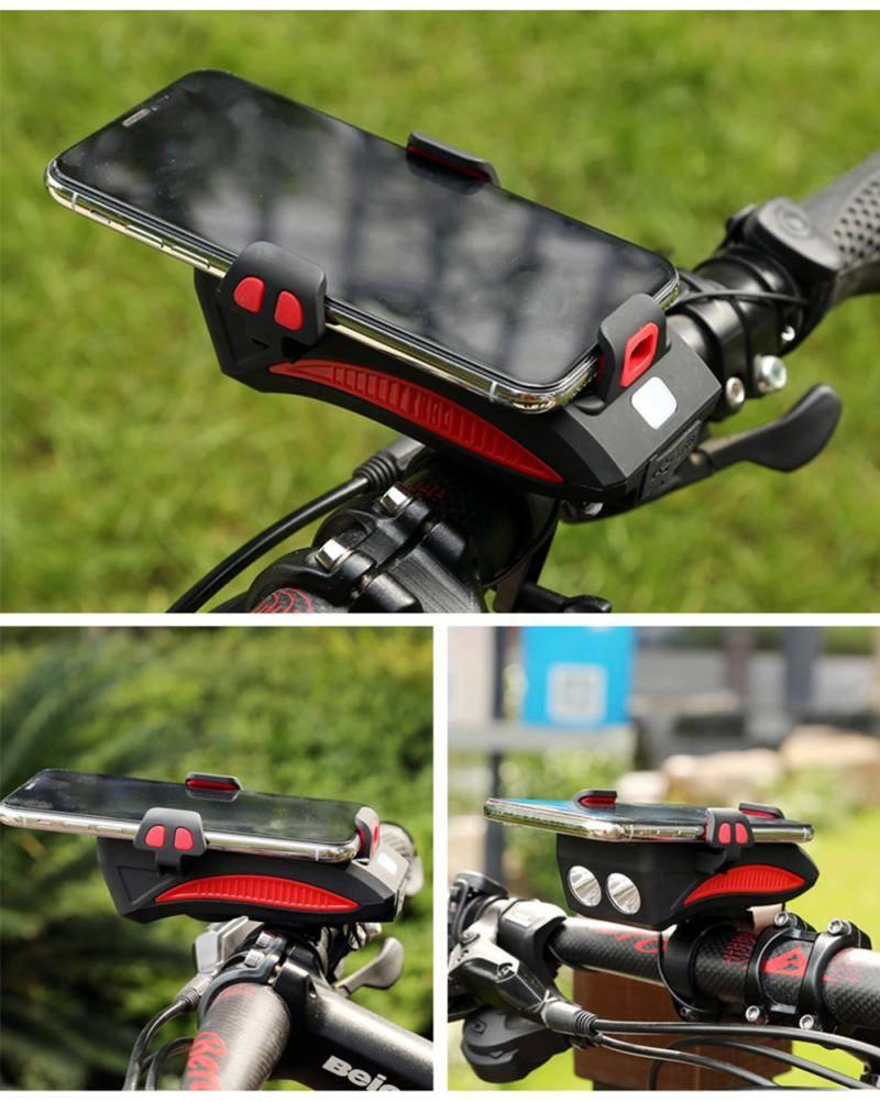 H16406c4d12ca454fa8ed27aaefad2ca8U Multi-function Bicycle Light phone holder + flashlight +power bank