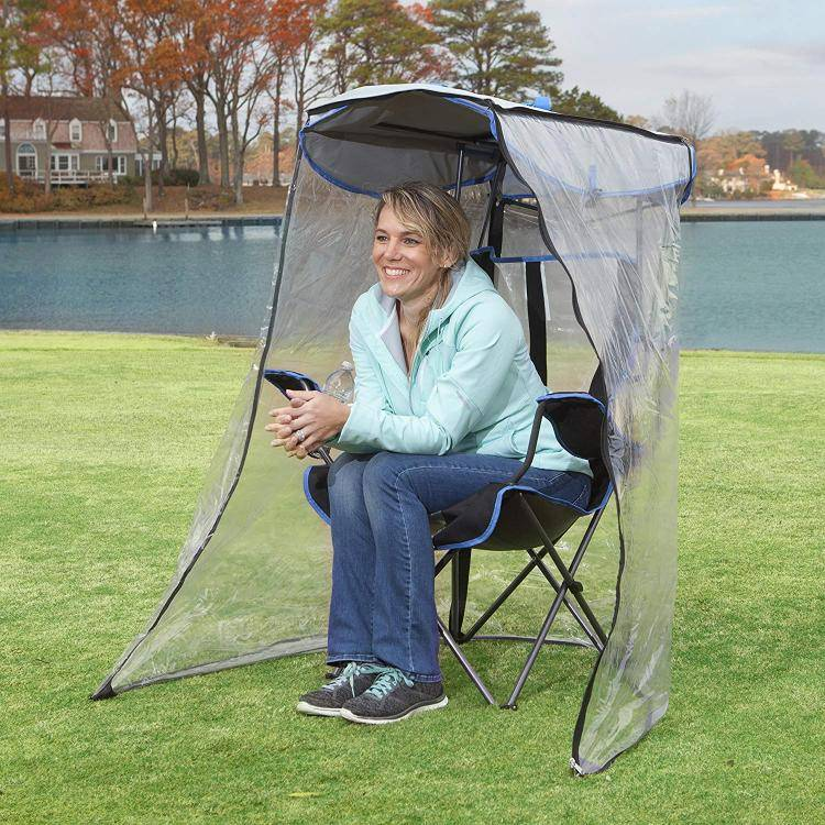 this genius canopy chair with a screen protects you from the sun and mosquitoes 6055 Awesome Canopy Chair With Mosquito Protector