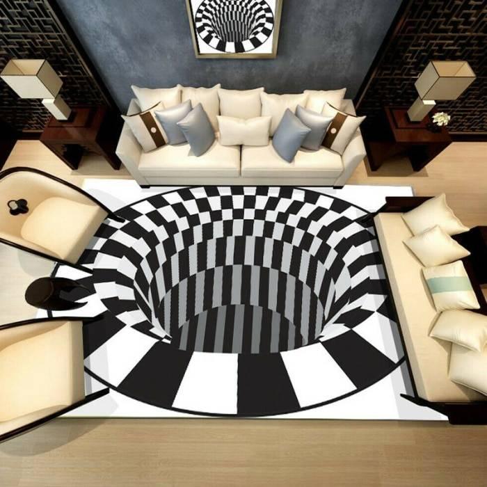 Ha5bcd5dd864142328aeeb44025ce30cfy 3D Vortex Illusion Rug