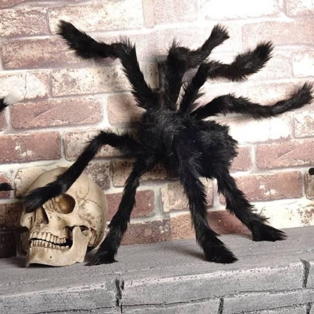 Scarry Black Spider Halloween Decoration