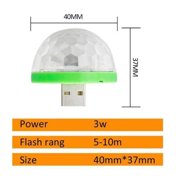 USB Mini Mushroom Disco Light