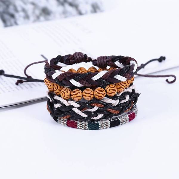 Handmade Weave Vintage Leather Bracelets