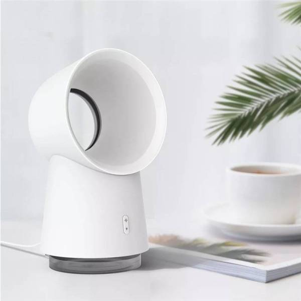HL Happy Life nesugar 3 in 1 Mini Cooling Fan Bladeless Desktop Fan Mist Humidifier w/ LED Light
