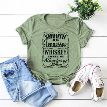Smooth As Tennessee Whiskey Sweet As Strawberry Wine Shirt