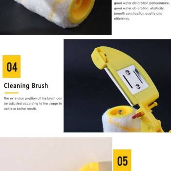 Roller Brush Small Hand held Color Separation Trimming Roller Brush Roller Trimming Brush For Simple Household 1 Clean Cut Paint Edger Roller Brush