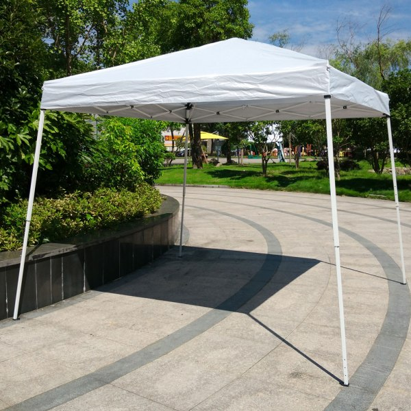 10'x 10'pop Gazebo White Easy Pop- Canopy Party Tent Sunshade Awning Withbag