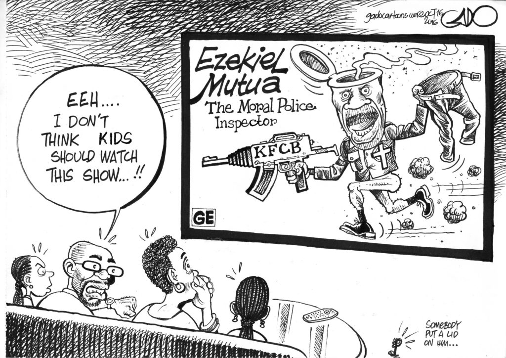 Image result for Ezekiel Mutua cartoons