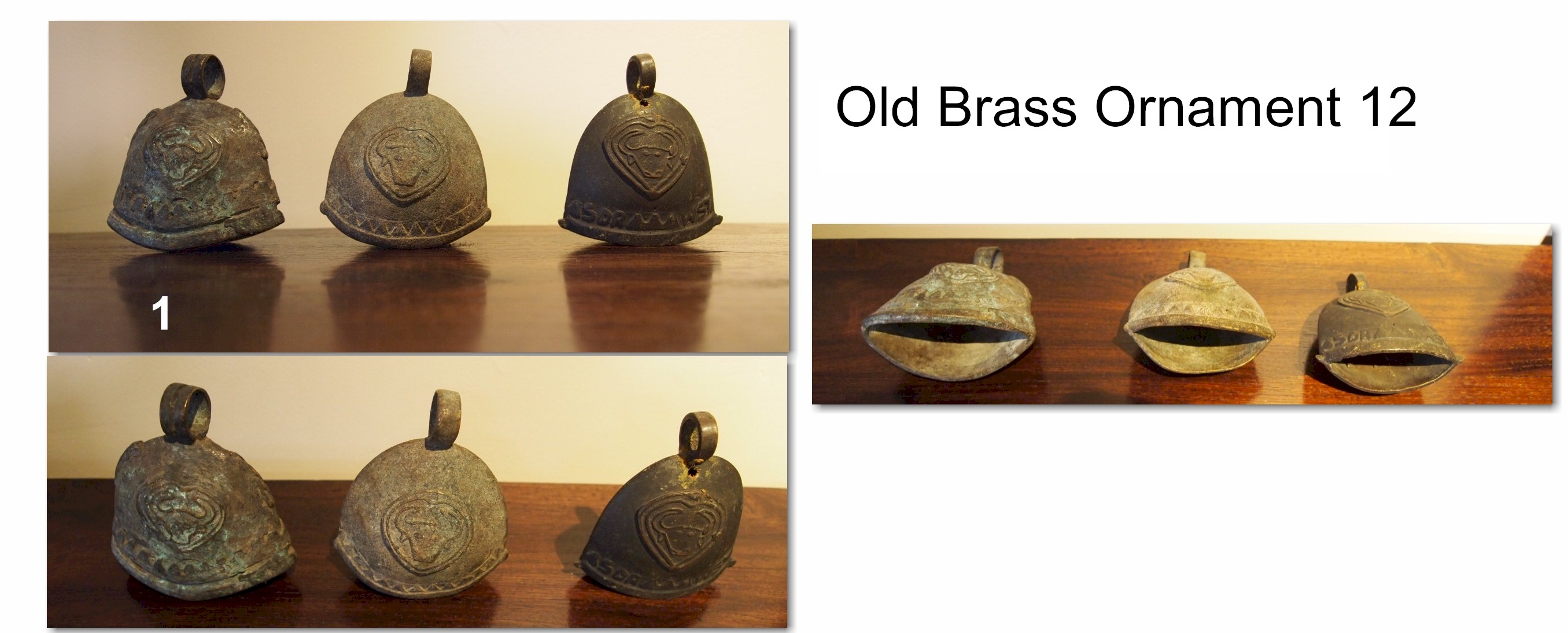 Old Brass Ornament 12