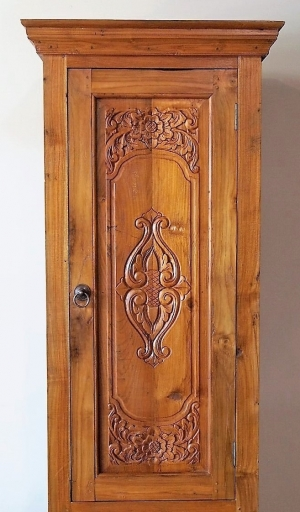 Carved Drawer Reclaimed Teak Indonesian Cabinet Gado Gado