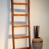Reclaimed Teak Decorative Ladder from Old Plows
