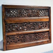 Old Teak Architectural Panels in Frame