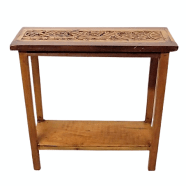 Old Carved Panel Wabi-Sabi Console Table